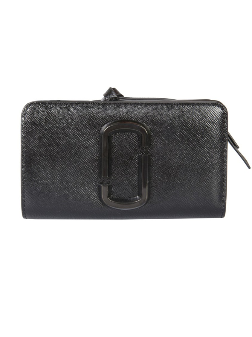 Marc Jacobs Wallets SNAPSHOT DTM BLACK LEATHER WALLET