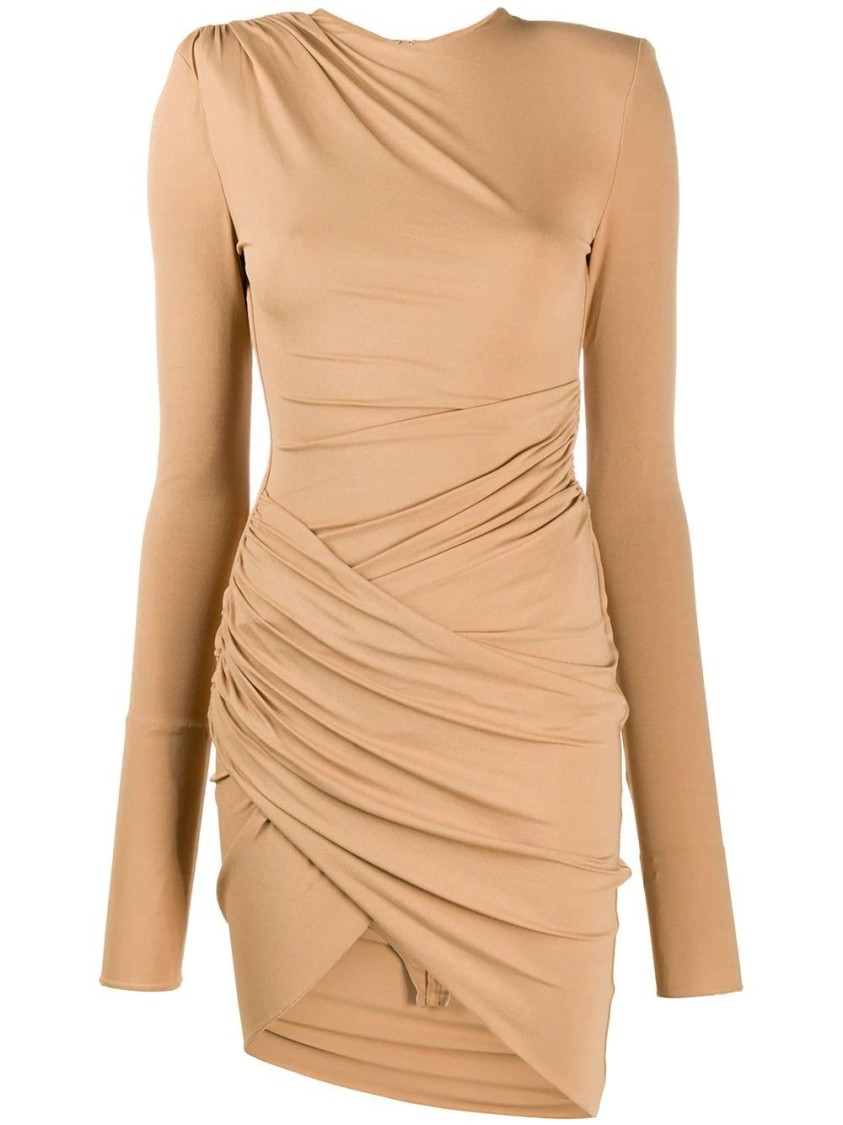 Alexandre Vauthier BEIGE ASYMMETRIC DRESS