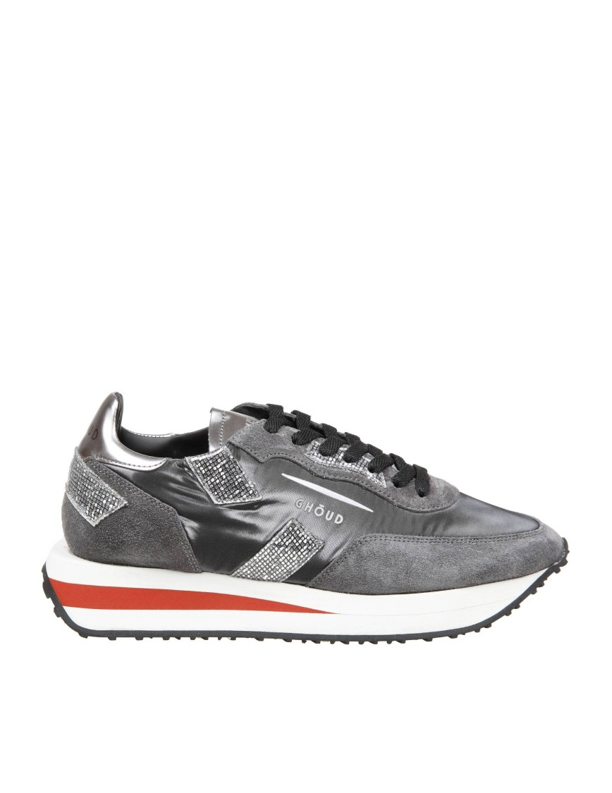 Ghoud RUSH SUEDE AND NYLON SNEAKERS COLOR GRAY