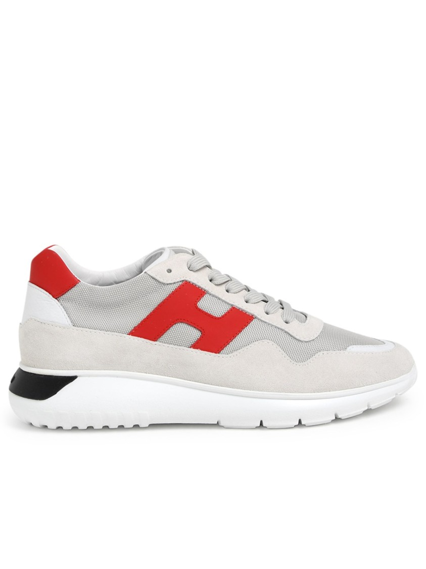 Hogan GREY/RED SUEDE SNEAKERS