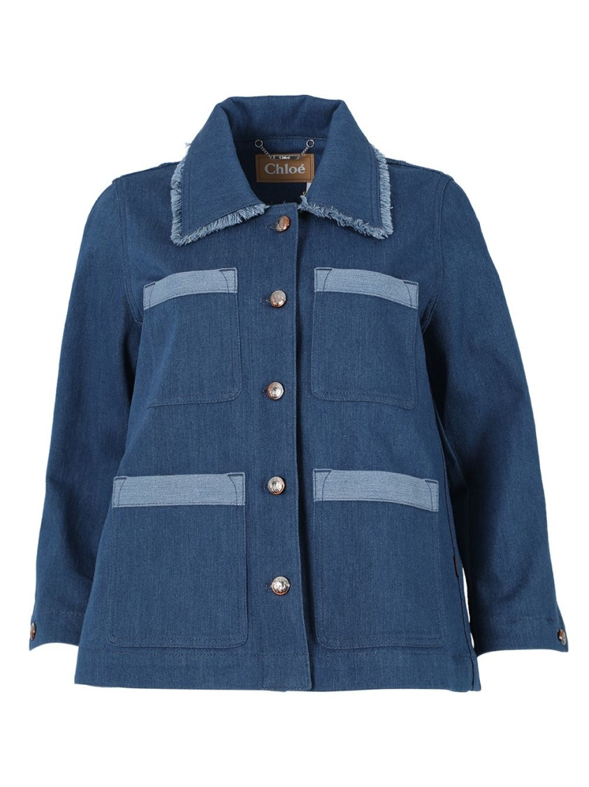 Chloé Stormy Blue Denim Jacket