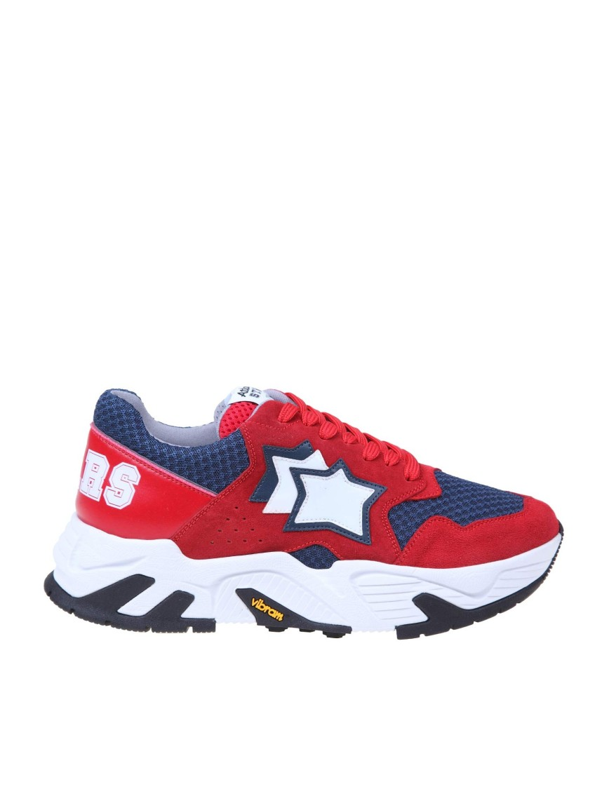 Atlantic Stars HERCULES SNEAKERS IN SUEDE AND NYLON RED COLOR