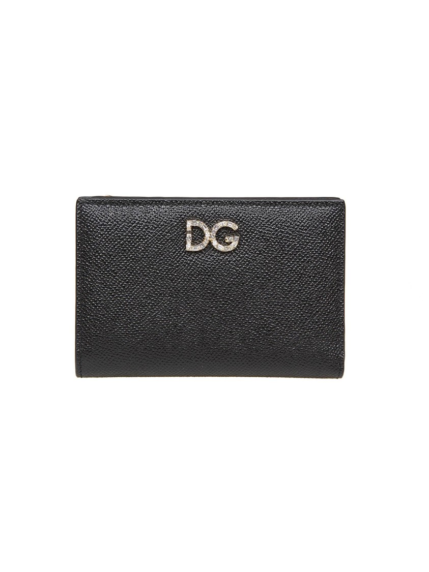 DOLCE & GABBANA BLACK LEATHER WALLET