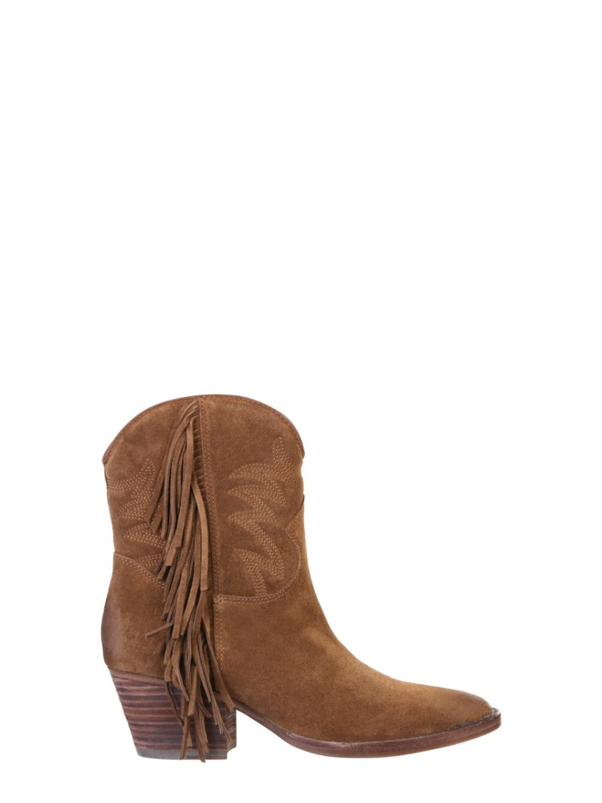 Ash FURIOUS BROWN SUEDE ANKLE BOOTS