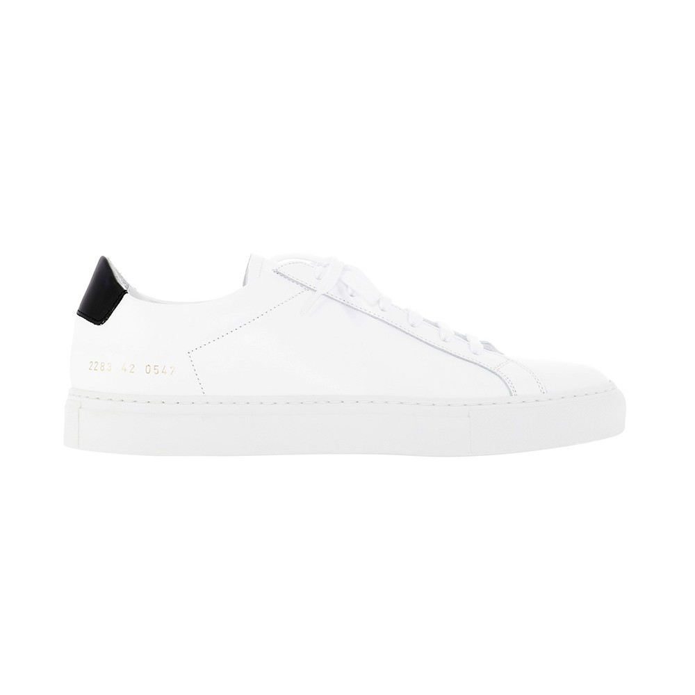 Common Projects WHITE LEATHER SNEAKERS