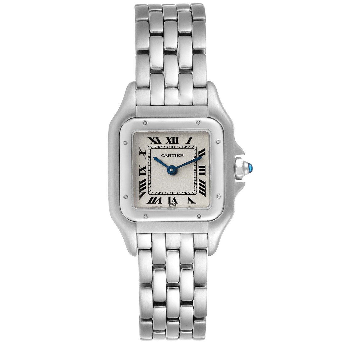 Cartier Panthere Ladies Small Stainless Steel Watch W25033p5 Service Papers In Metallic