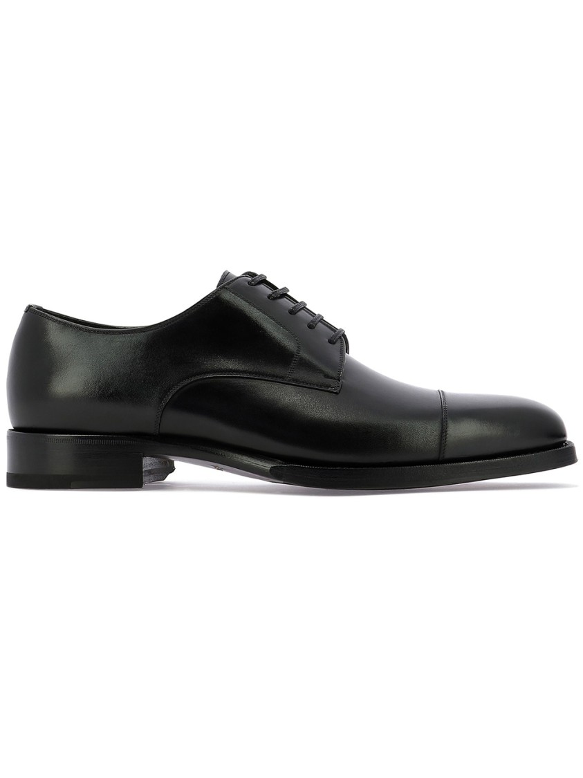 Tom Ford Leathers BLACK LEATHER LACE-UP SHOES
