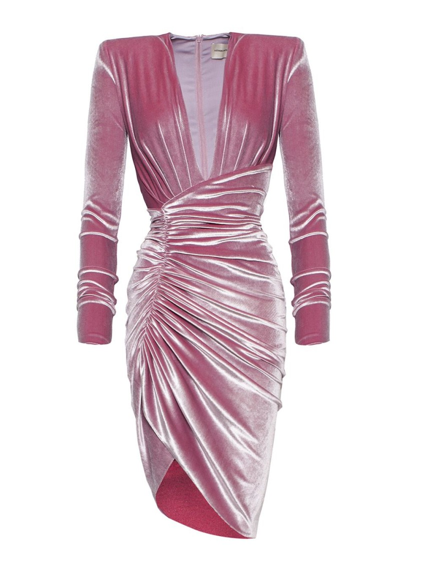 Alexandre Vauthier PINK RUCHED DRESS