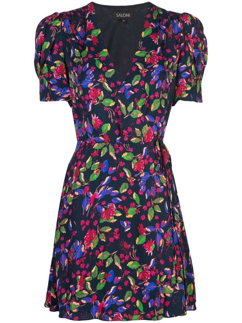 Saloni LEA WRAP MINI DRESS