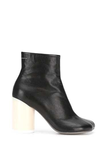 Mm6 Maison Margiela BLACK LEATHER 'MEMORY' ANKLE BOOT