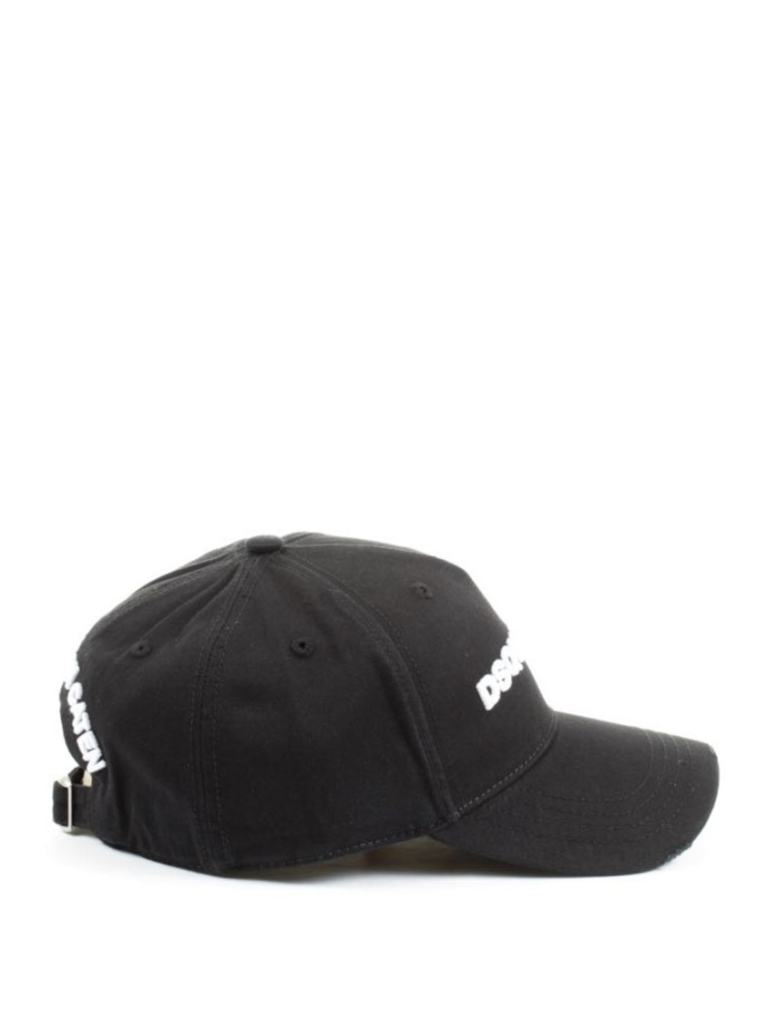 Dsquared2 Jewelry LOGO EMBROIDERY BLACK BASEBALL CAP