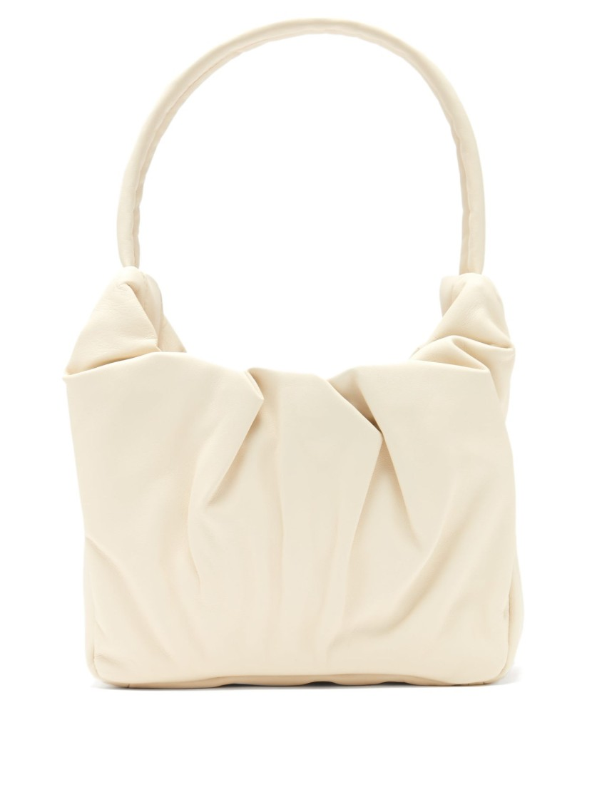 Staud Leathers GATHERED LEATHER SHOULDER BAG