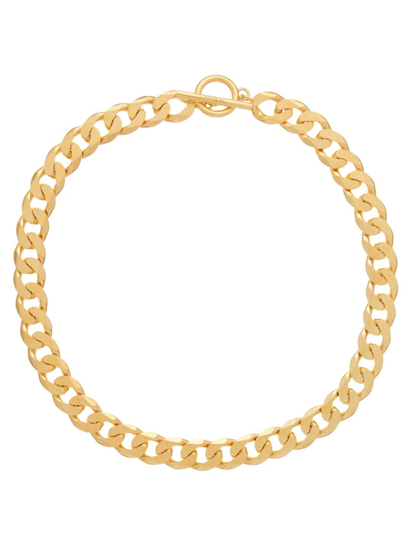 All Blues CURB-CHAIN GOLD-VERMEIL NECKLACE