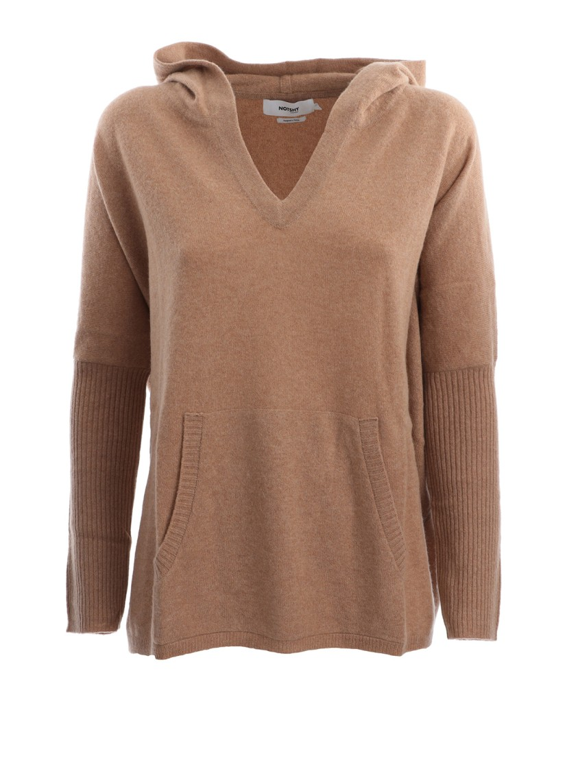 Not Shy Brown Cashmere Sweater