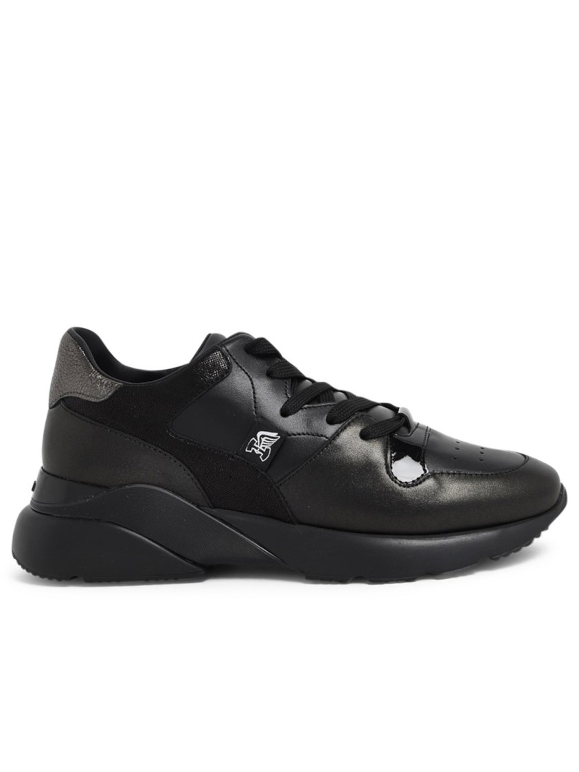 Hogan Leathers BLACK LEATHER SNEAKERS