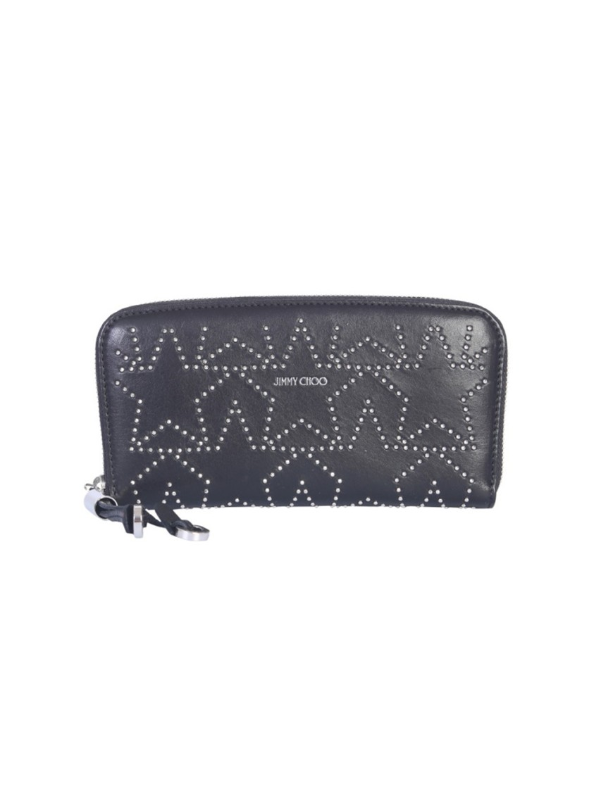 Jimmy Choo FILIPA BLACK LEATHER WALLET