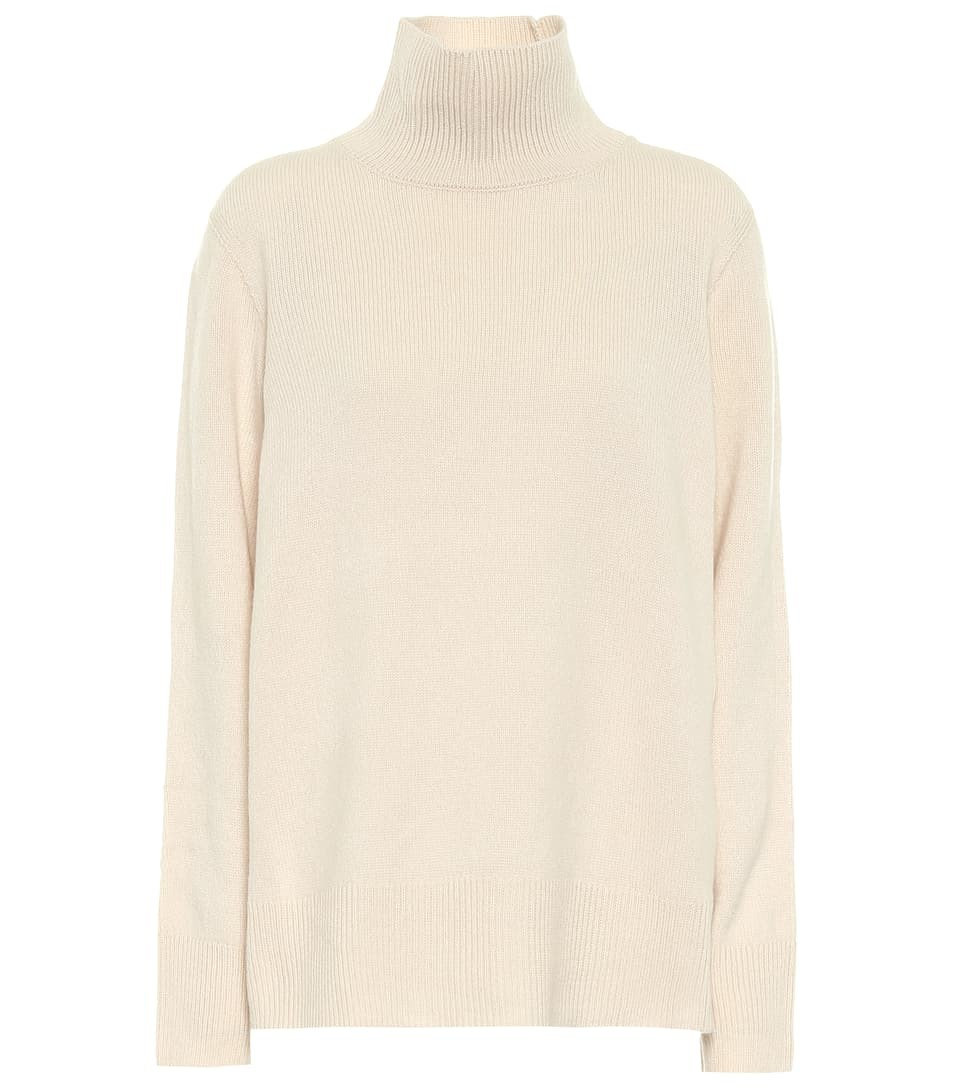 The Row MILINA WOOL AND CASHMERE TURTLENECK SWEATER