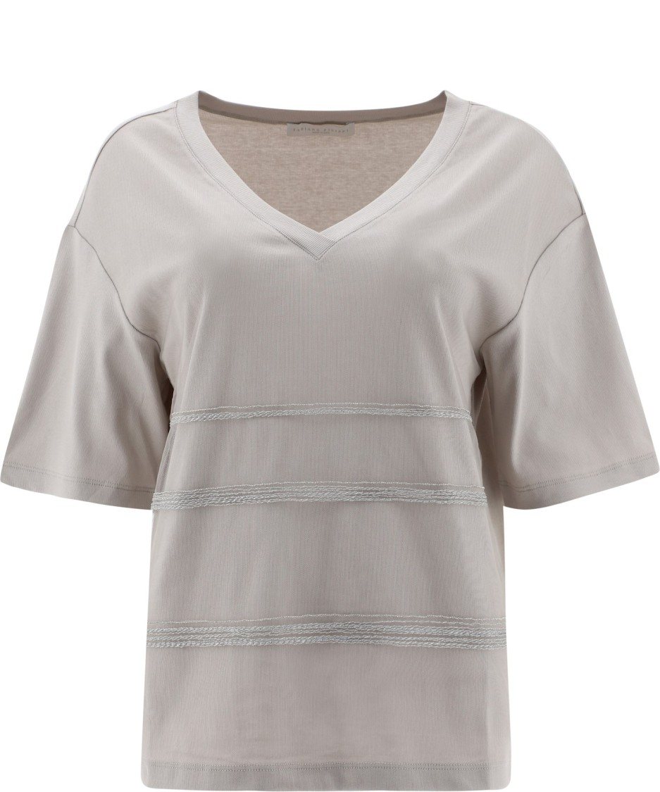 Fabiana Filippi BEIGE COTTON T-SHIRT