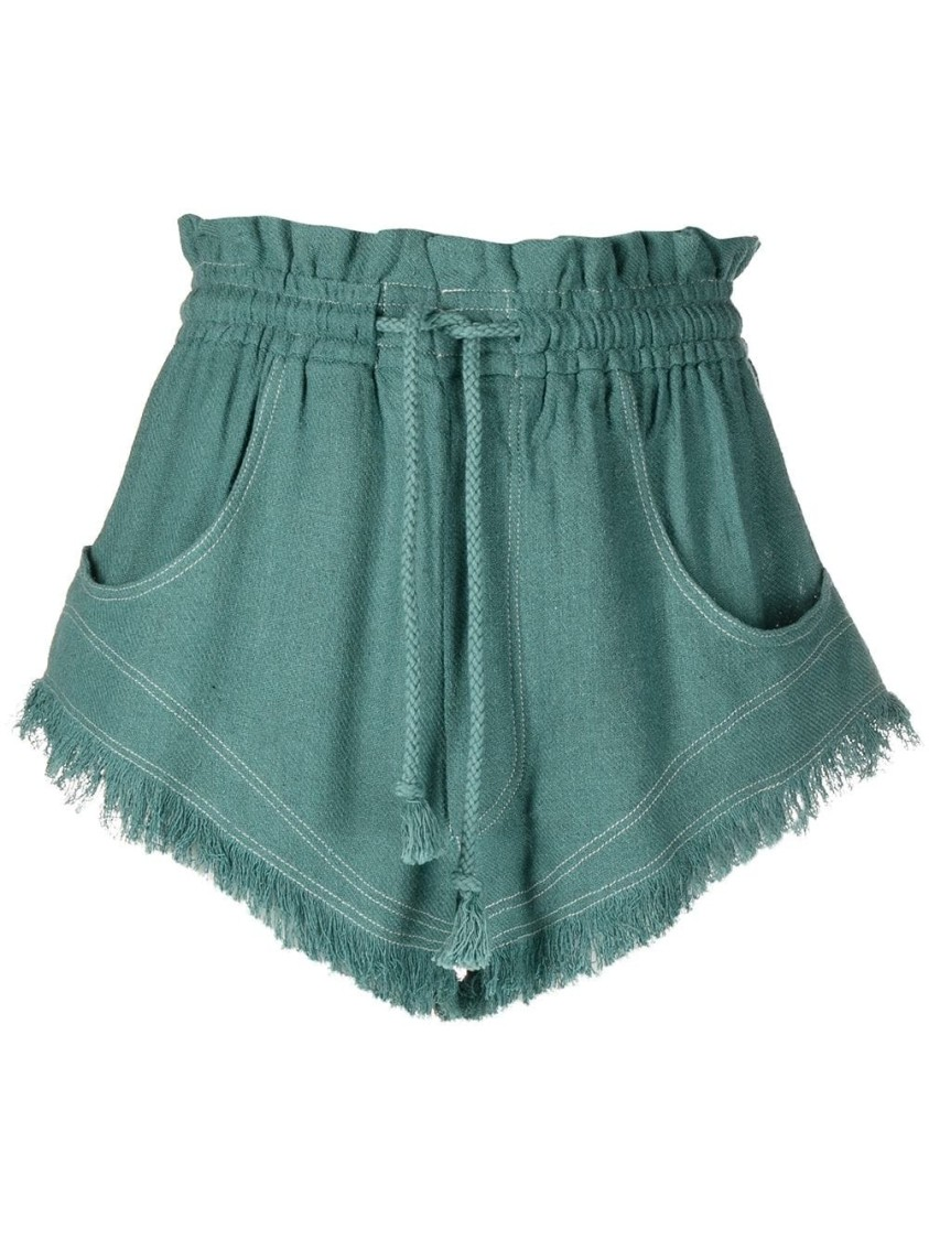 Isabel Marant Étoile Silks HIGH-RISE DRAWSTRING SHORTS