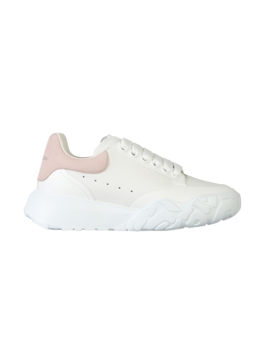 Alexander Mcqueen TRAINER COURT WHITE LEATHER SNEAKERS