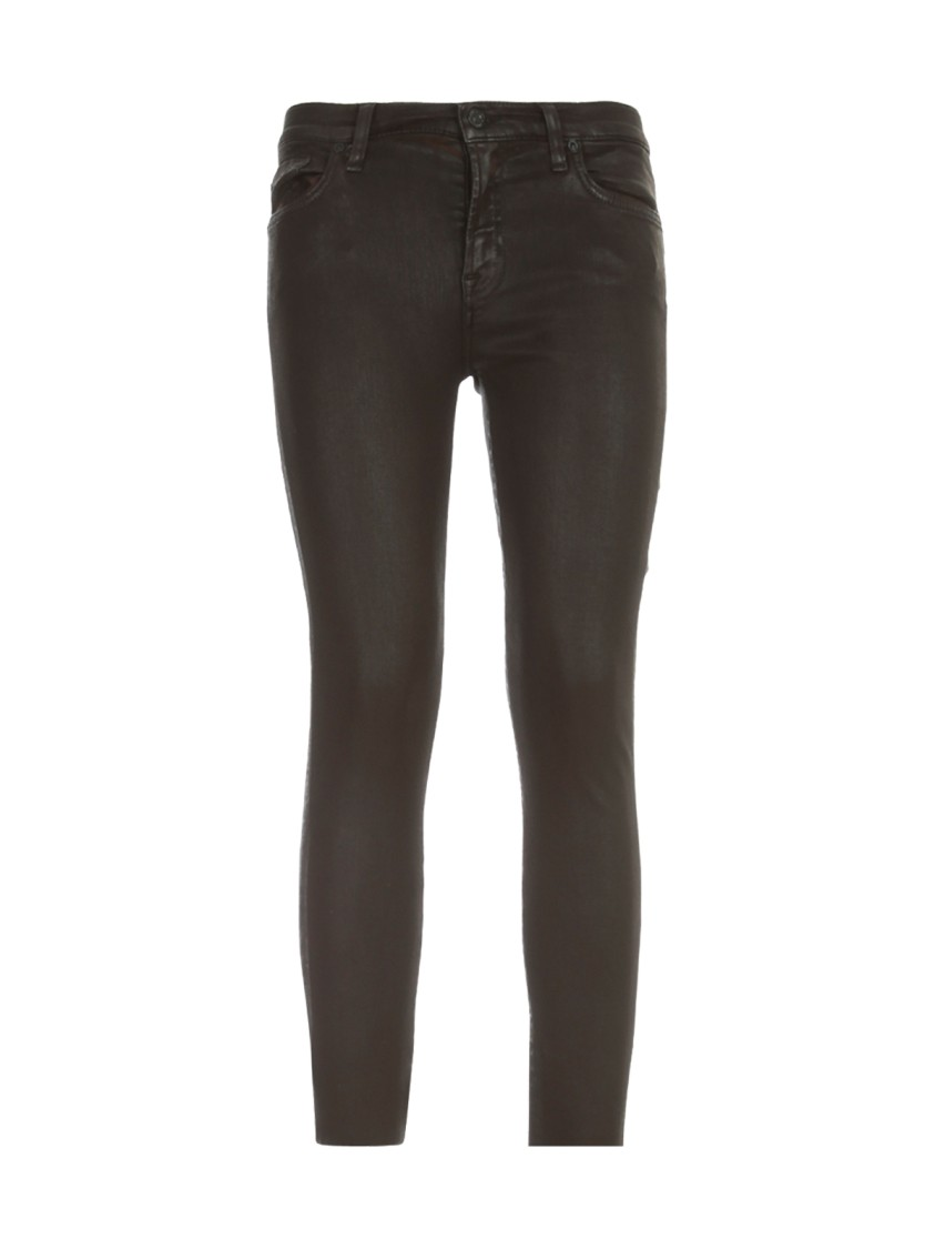 7 For All Mankind THE SKINNY COATED SLIM ILLUSION CHOCOLATE