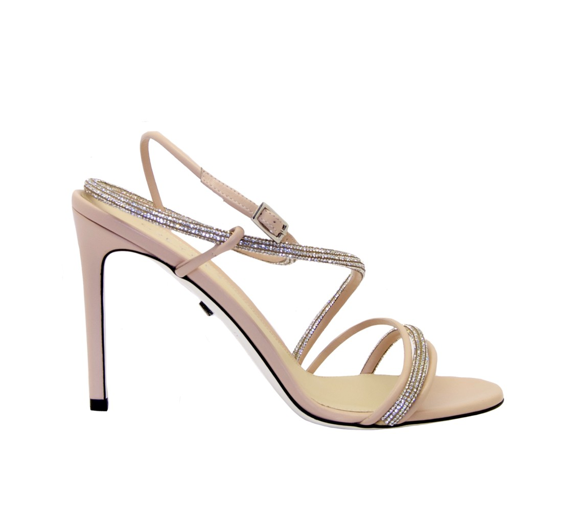 Greymer PINK LEATHER SANDALS