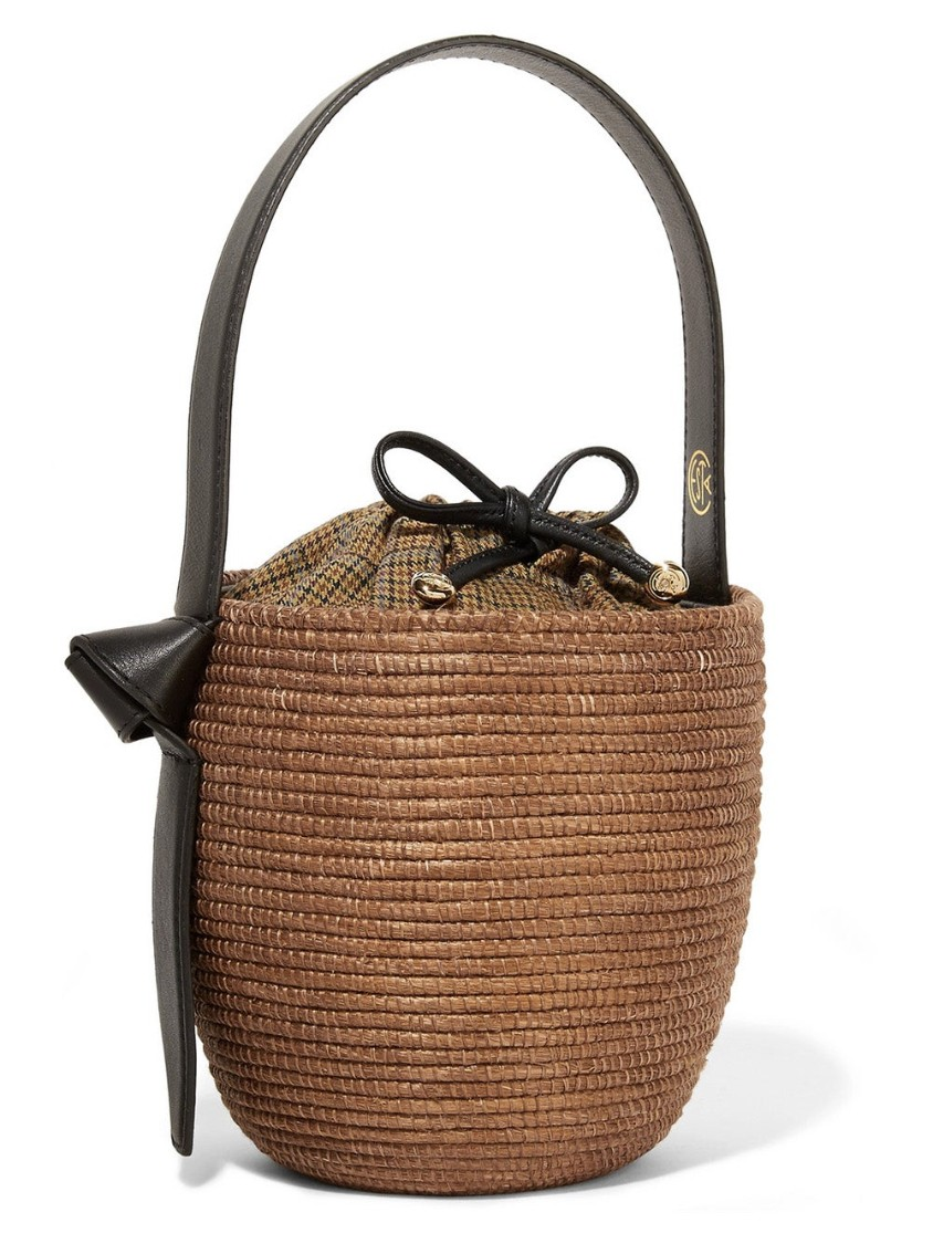 Cesta Collective BROWN WOMEN'S CAMEL HOUNDSTOOTH LUNCHPAIL