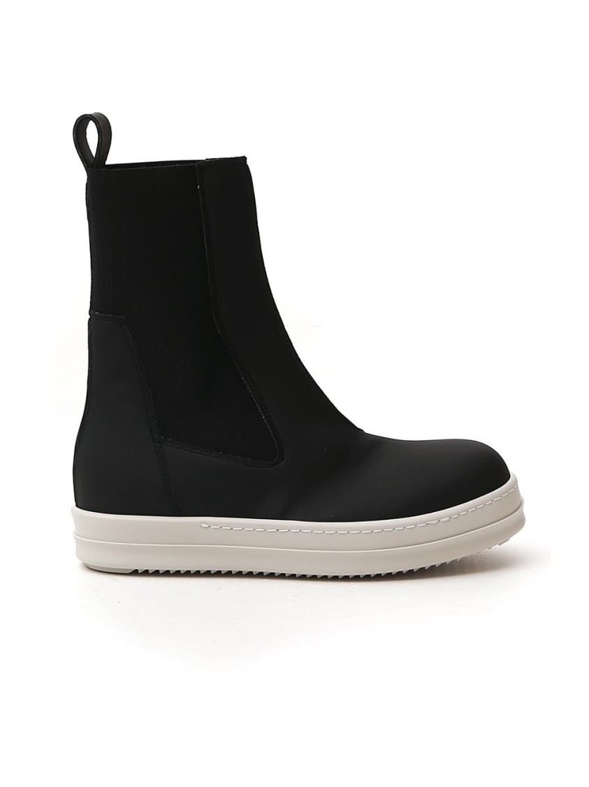 Rick Owens Drkshdw BLACK LEATHER ANKLE BOOTS