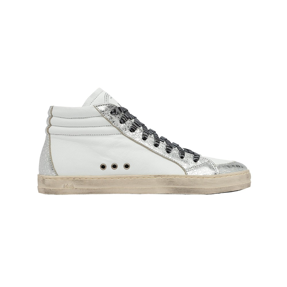 P448 Skate White Leather Hi Top Sneakers