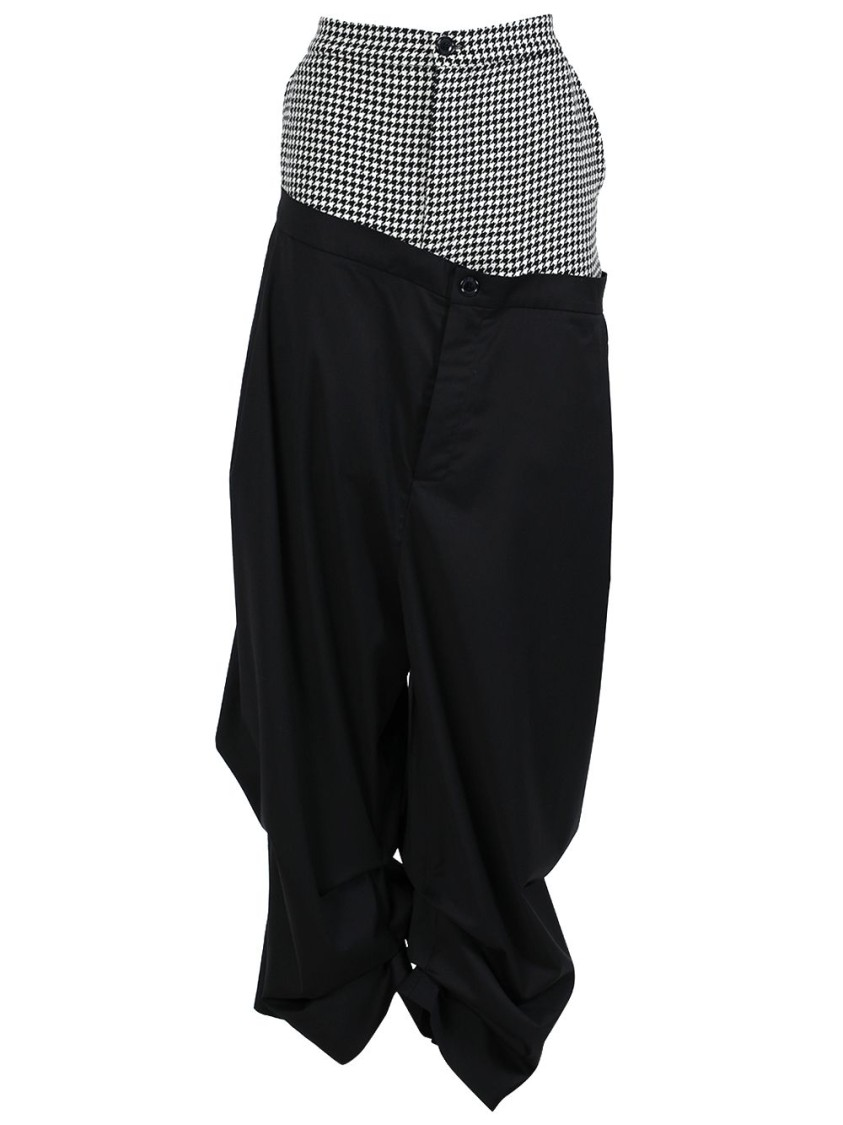 Natasha Zinko HOUNDSTOOTH DOUBLE LAYER TROUSERS