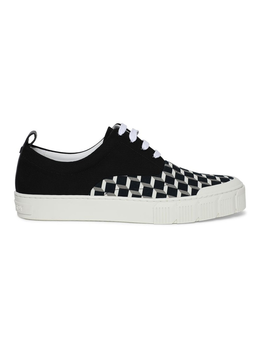 Pierre Hardy Canvases OLLIE GEOMETRIC PRINT LOW-TOP SNEAKERS