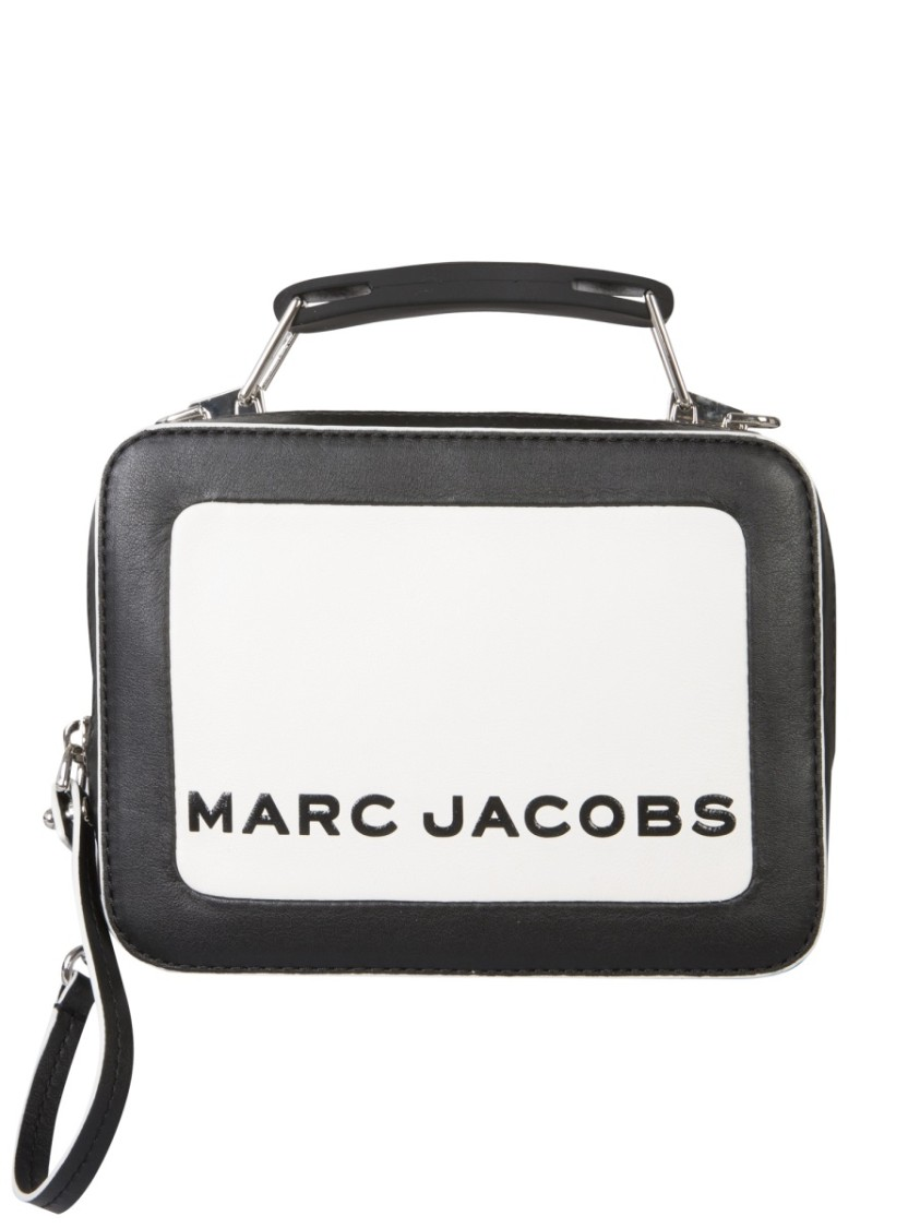 Marc Jacobs MINI BOX COLORBLOCK WHITE/BLACK LEATHER HANDBAG