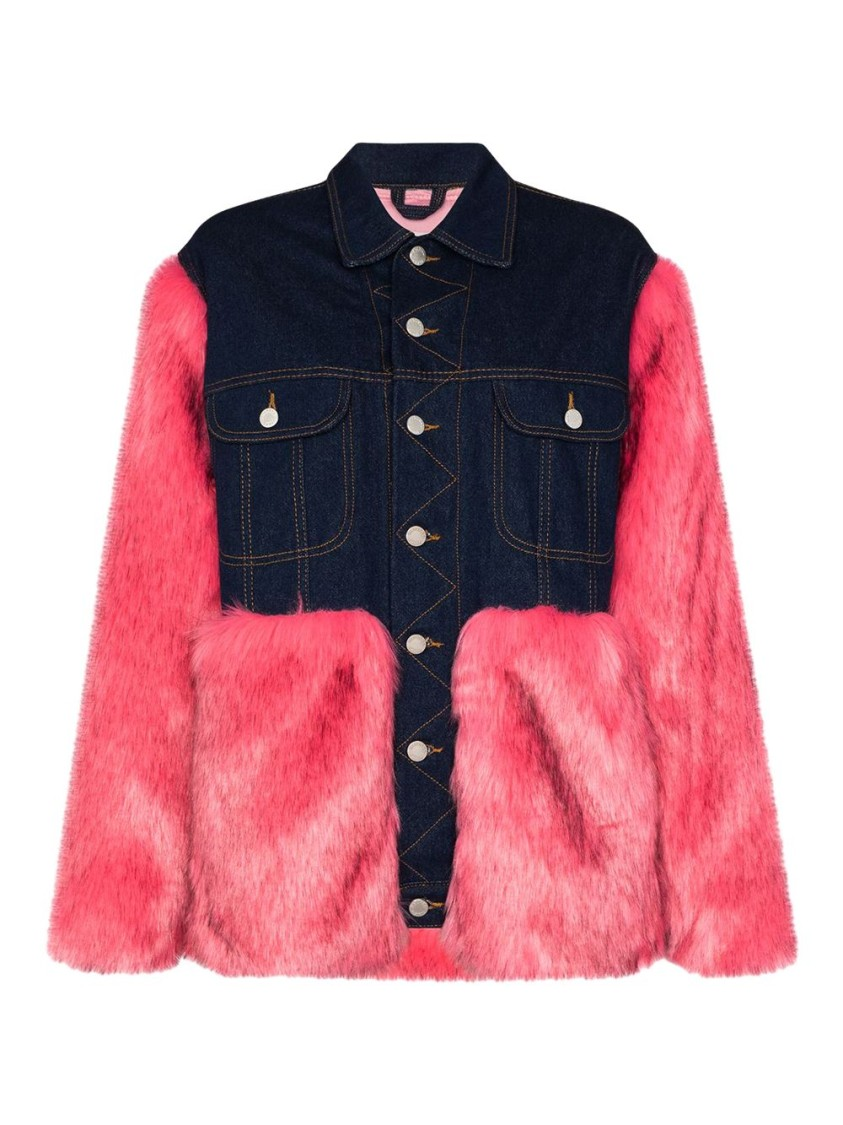 Natasha Zinko DENIM FAUX FUR JACKET