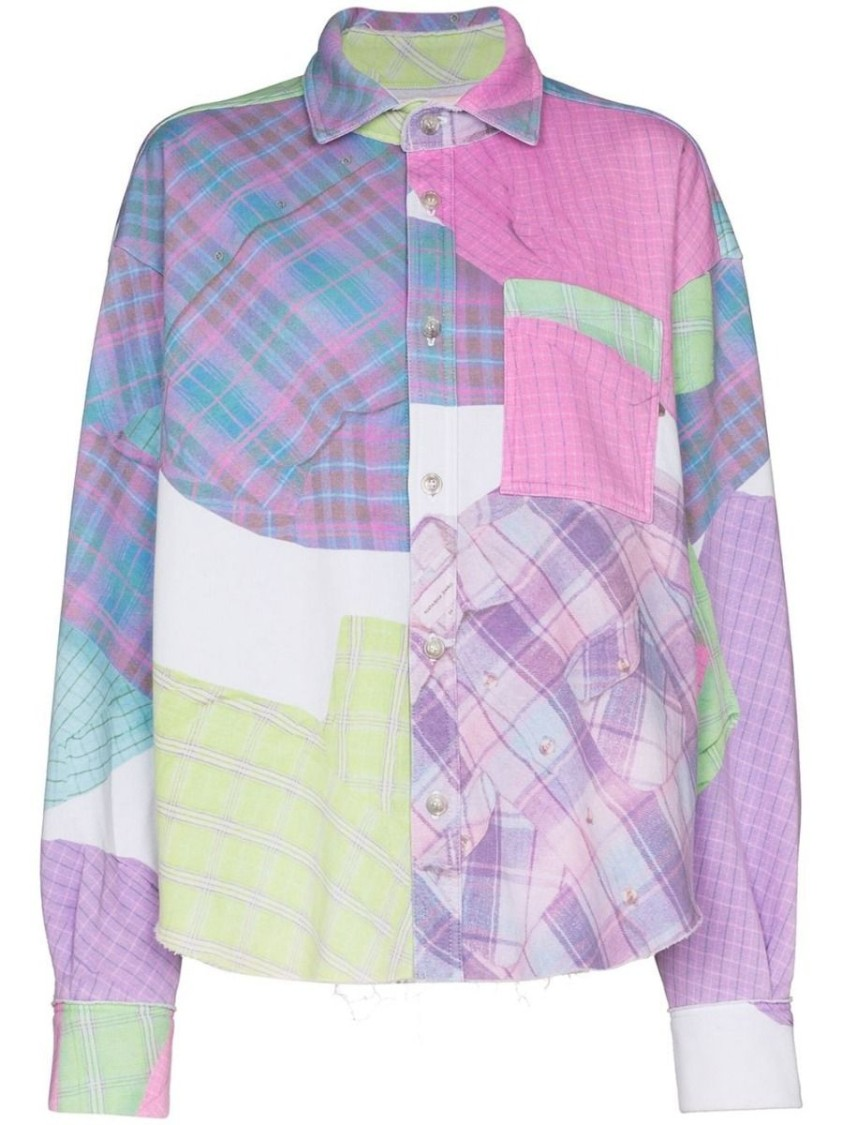 Natasha Zinko MULTICOLORED CHECK PRINT SHIRT