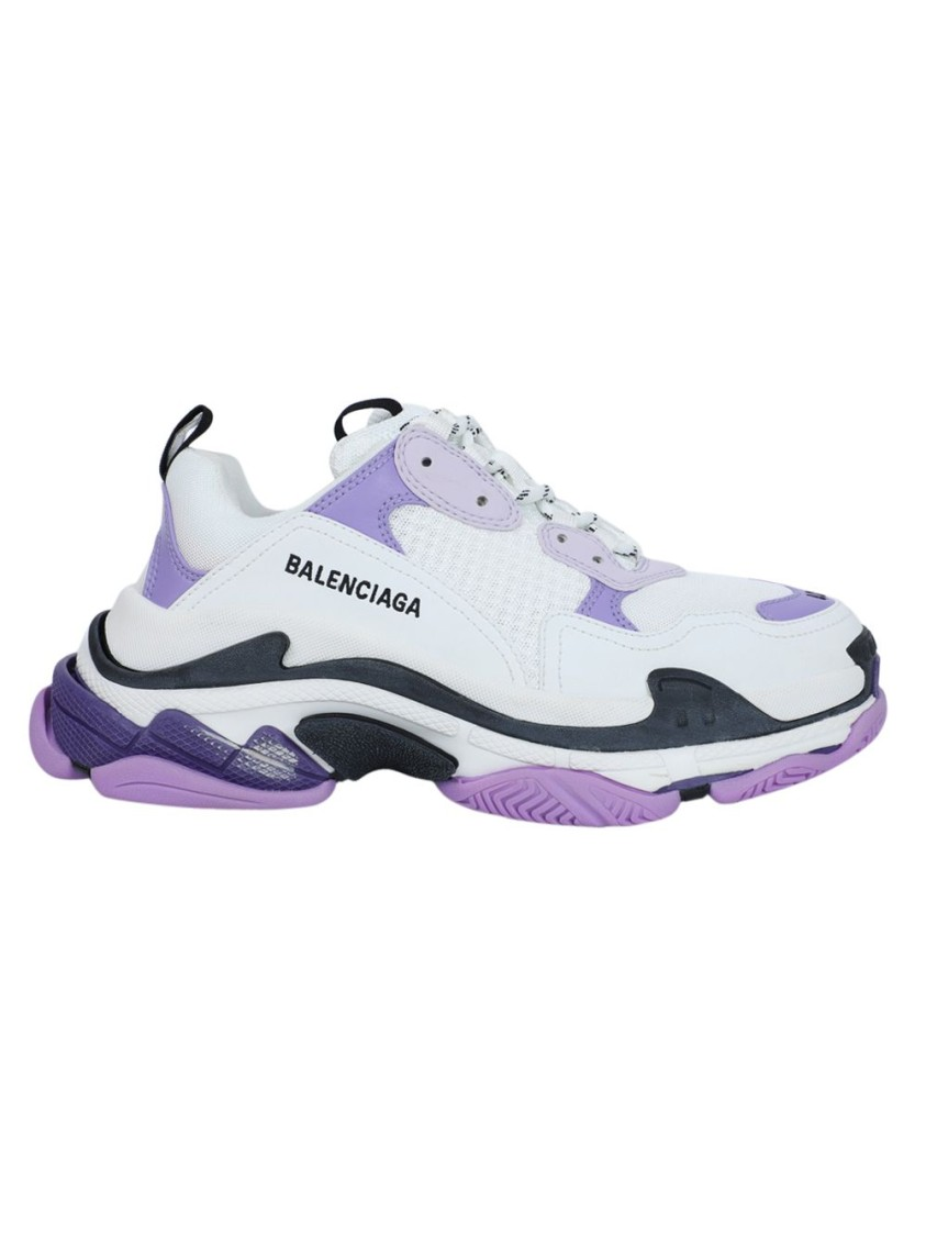 Balenciaga Sneakers WHITE AND LILAC TRIPLE S SNEAKER