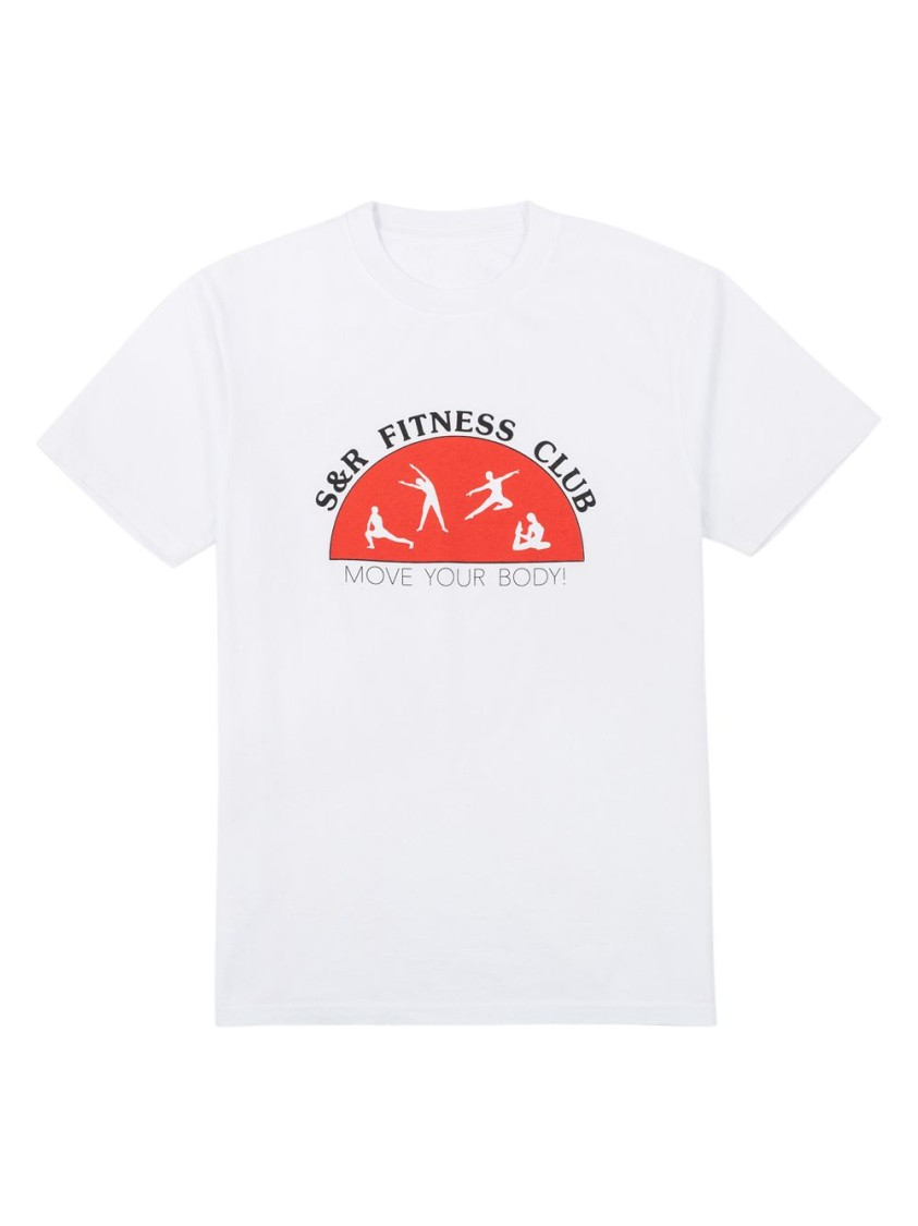 SPORTY AND RICH S & R FITNESS CLUB T-SHIRT