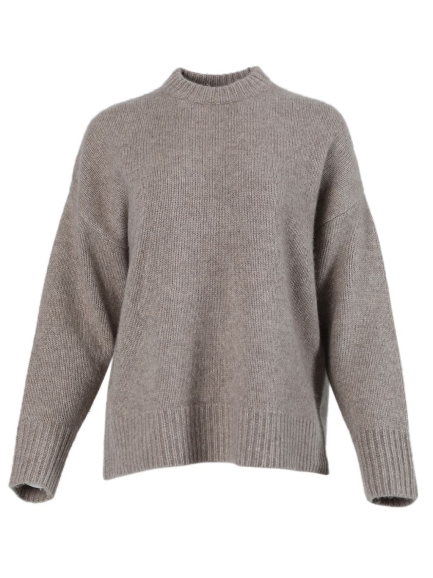 Co TAUPE STAPLE KNIT SWEATER