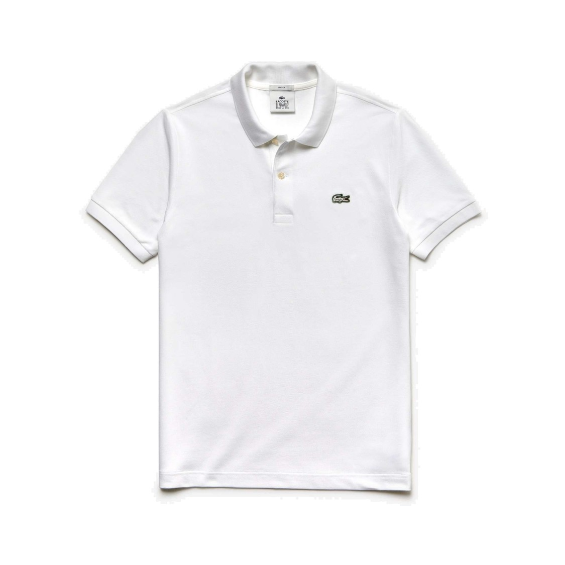 Lacoste Petit Pique Slim Fit Polo Shirt In White