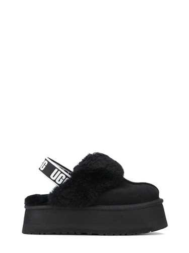 Ugg Suedes BLACK 'FUNKETTE' MULES IN SHEARLING