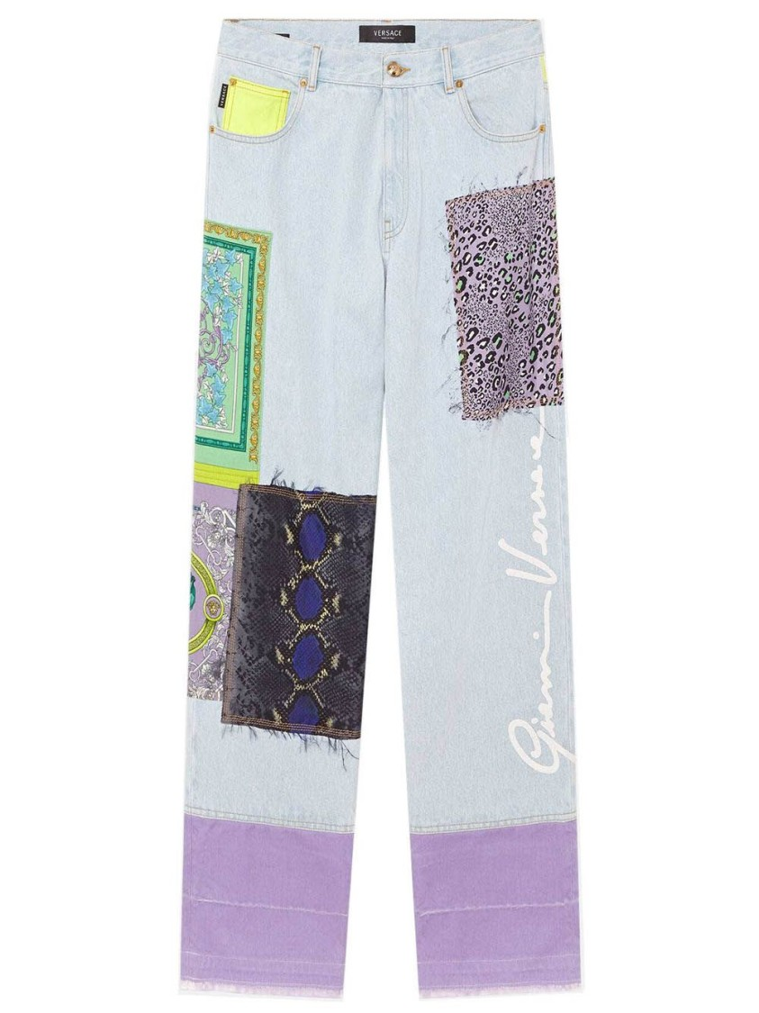 Versace Patchwork Denim Jeans