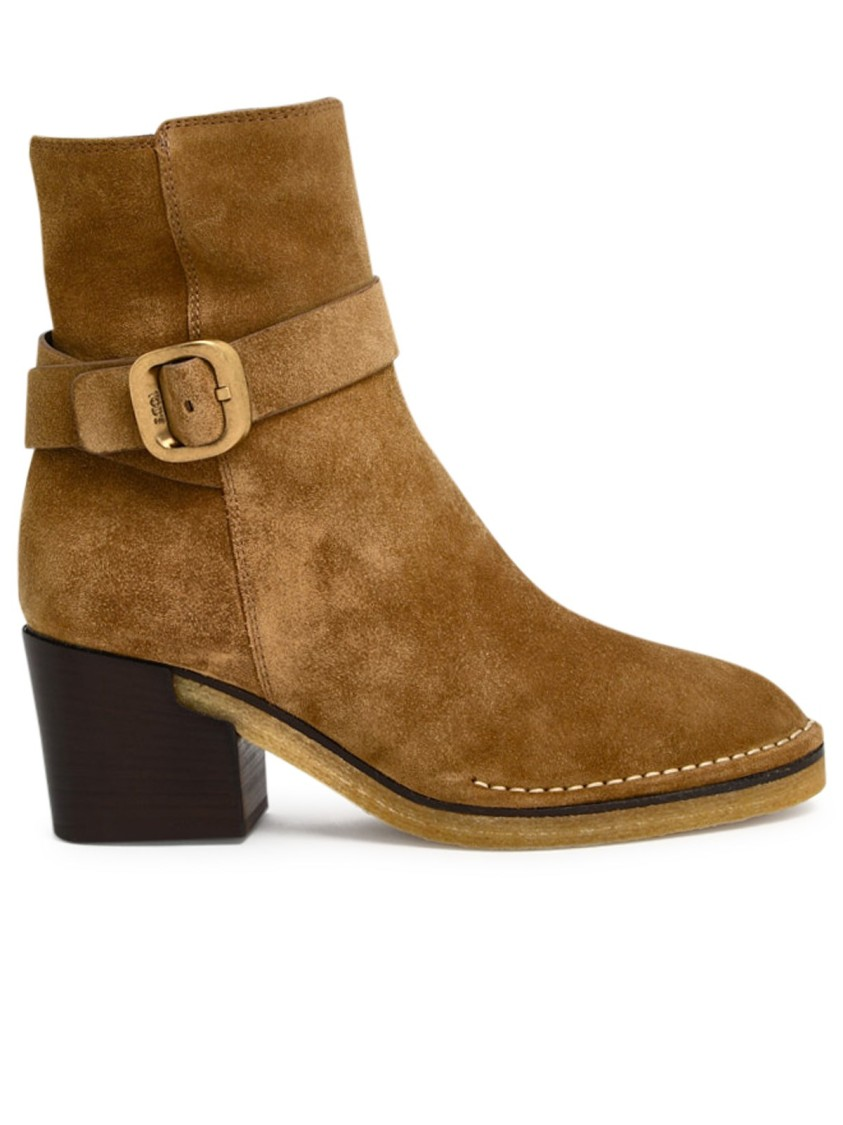 Tod's Suedes BROWN SUEDE ANKLE BOOTS