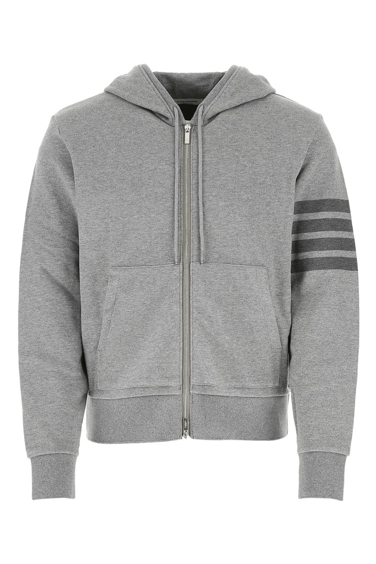 THOM BROWNE Cottons GREY COTTON SWEATSHIRT