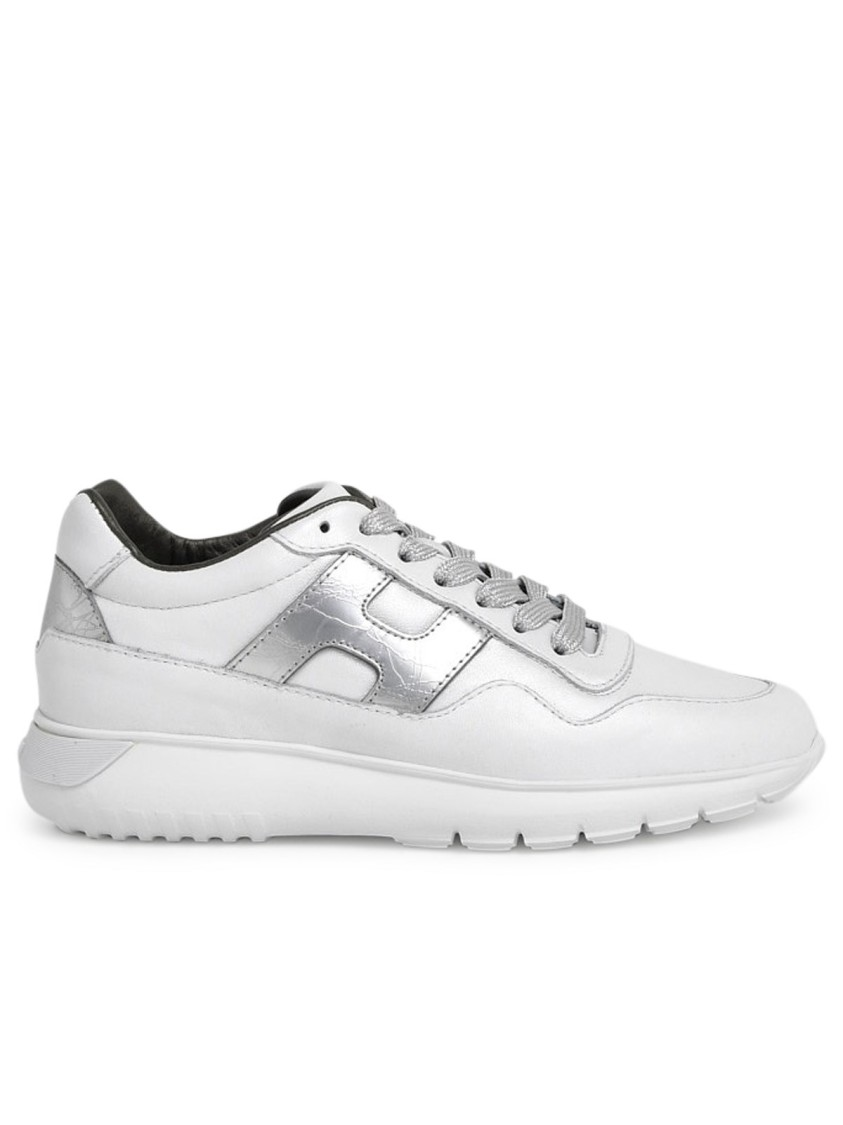 Hogan Leathers WHITE LEATHER SNEAKERS