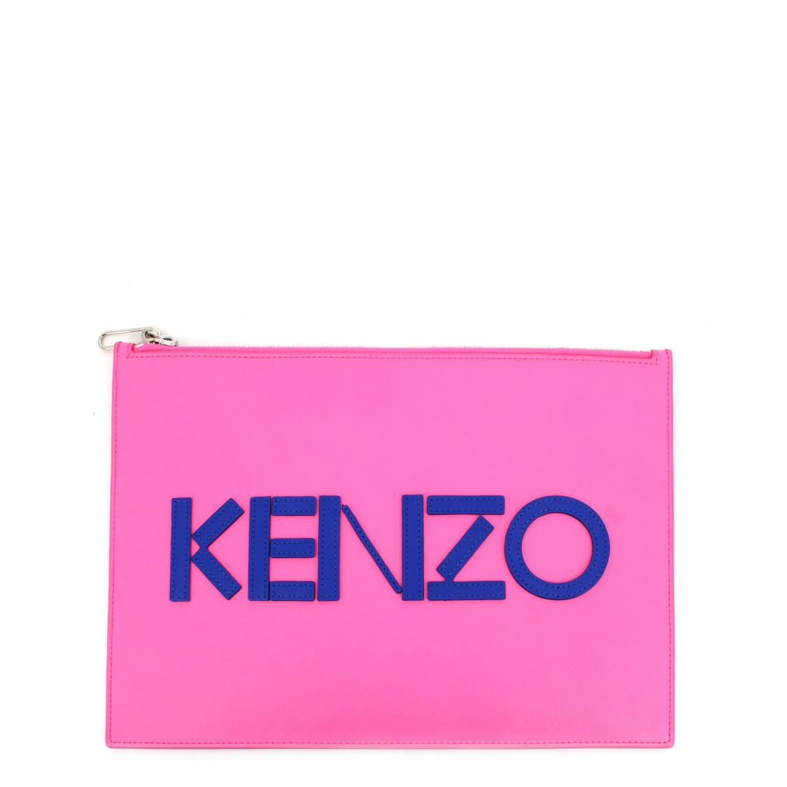 Kenzo COLORBLOCK LEATHER CLUTCH