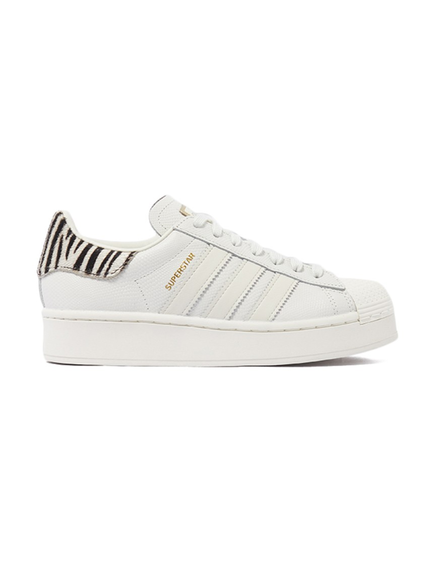 Adidas Originals SUPERSTAR BOLD SNEAKERS IN WHITE LEATHER