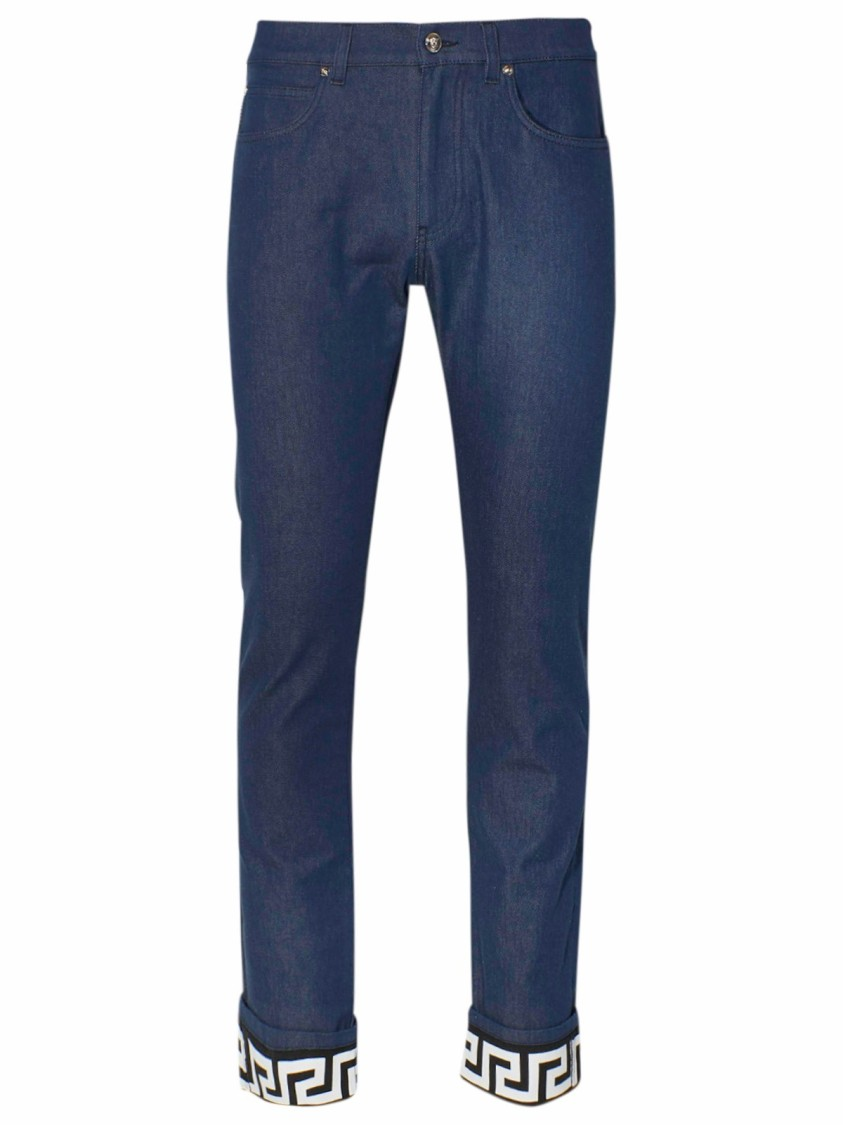 Versace BLUE COTTON JEANS