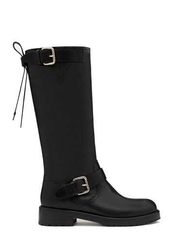 Red Valentino High 'Bikered' Leather Boot