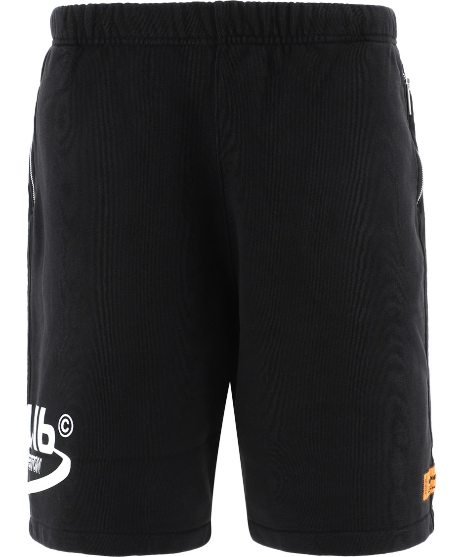 Heron Preston BLACK COTTON SHORTS